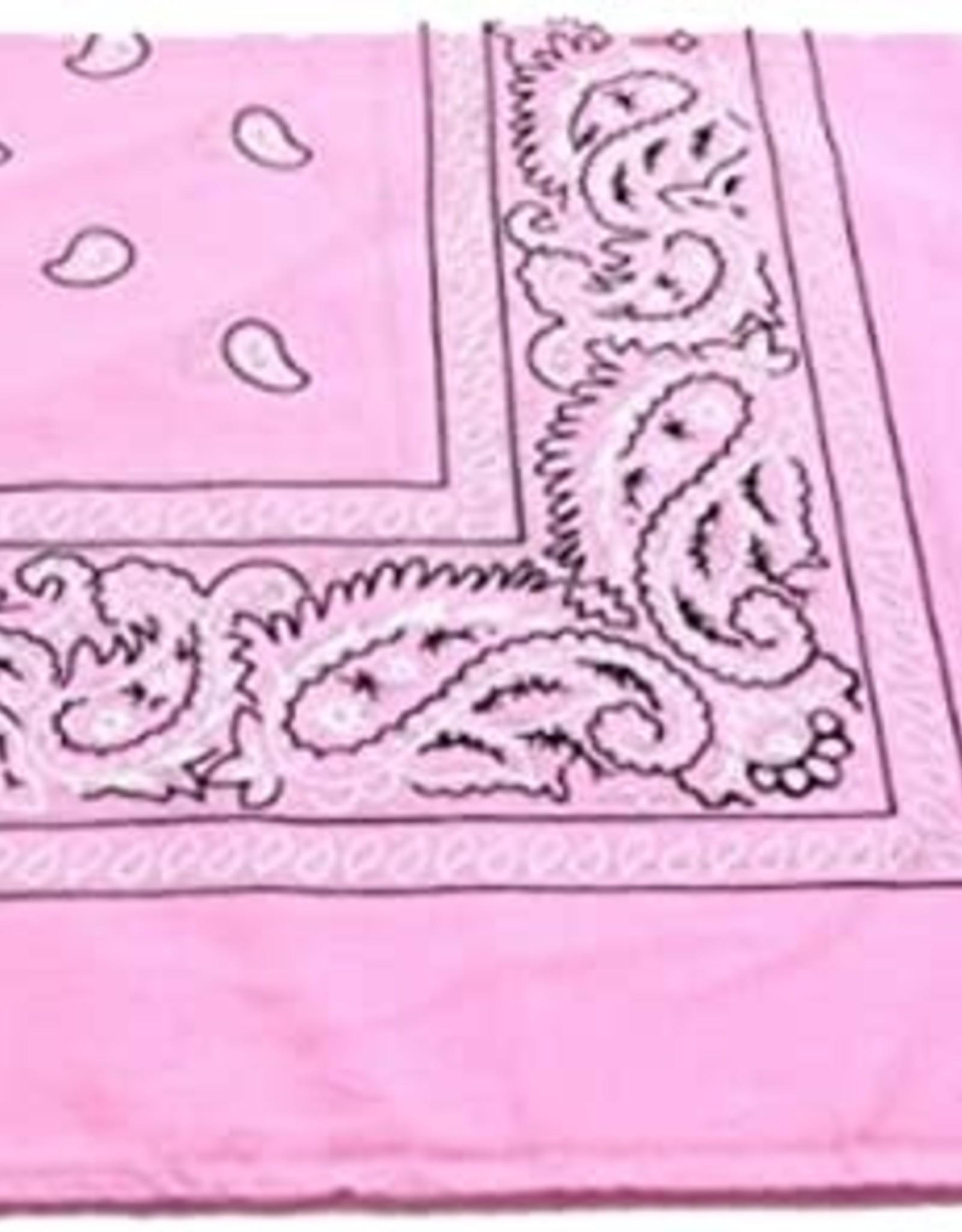 Bandana Paisley Patterned Light Pink