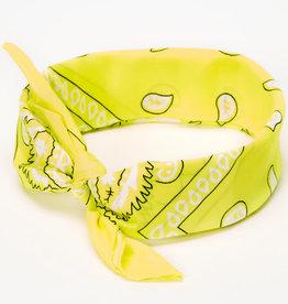 Bandana Paisley Patterned Light Yellow