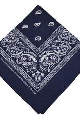 Bandana Paisley Patterned Navy Blue