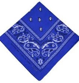 Bandana Paisley Patterned Royal Blue