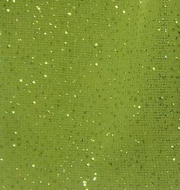 Shimmer Fabric 1way Stretch Plain Lime Green