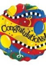 "18"" 2 Sided Printed Mylar Balloon Congratulations Multi"