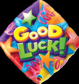 "18"" 2 Sided Printed Mylar Balloon Good Luck Stars"