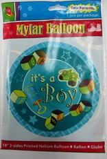 "18"" 2 Sided Printed Mylar Balloon It's A Boy 1"