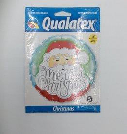 "18"" 2 Sided Printed Mylar Balloon Santa ""Merry Christmas"""