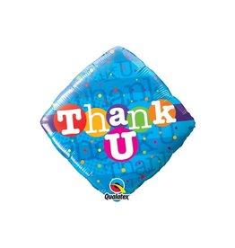 "18"" 2 Sided Printed Mylar Balloon Thank You Blue/Multi"