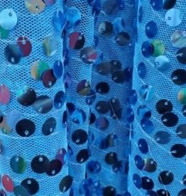 Hanging Sequin Mesh  Royal Blue