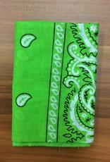 Bandana Paisley Patterned Lime Green