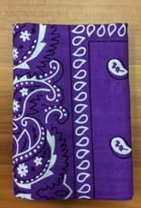 Bandana Paisley Patterned Purple
