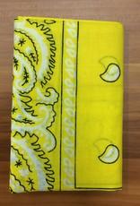 Bandana Paisley Patterned Canary Yellow