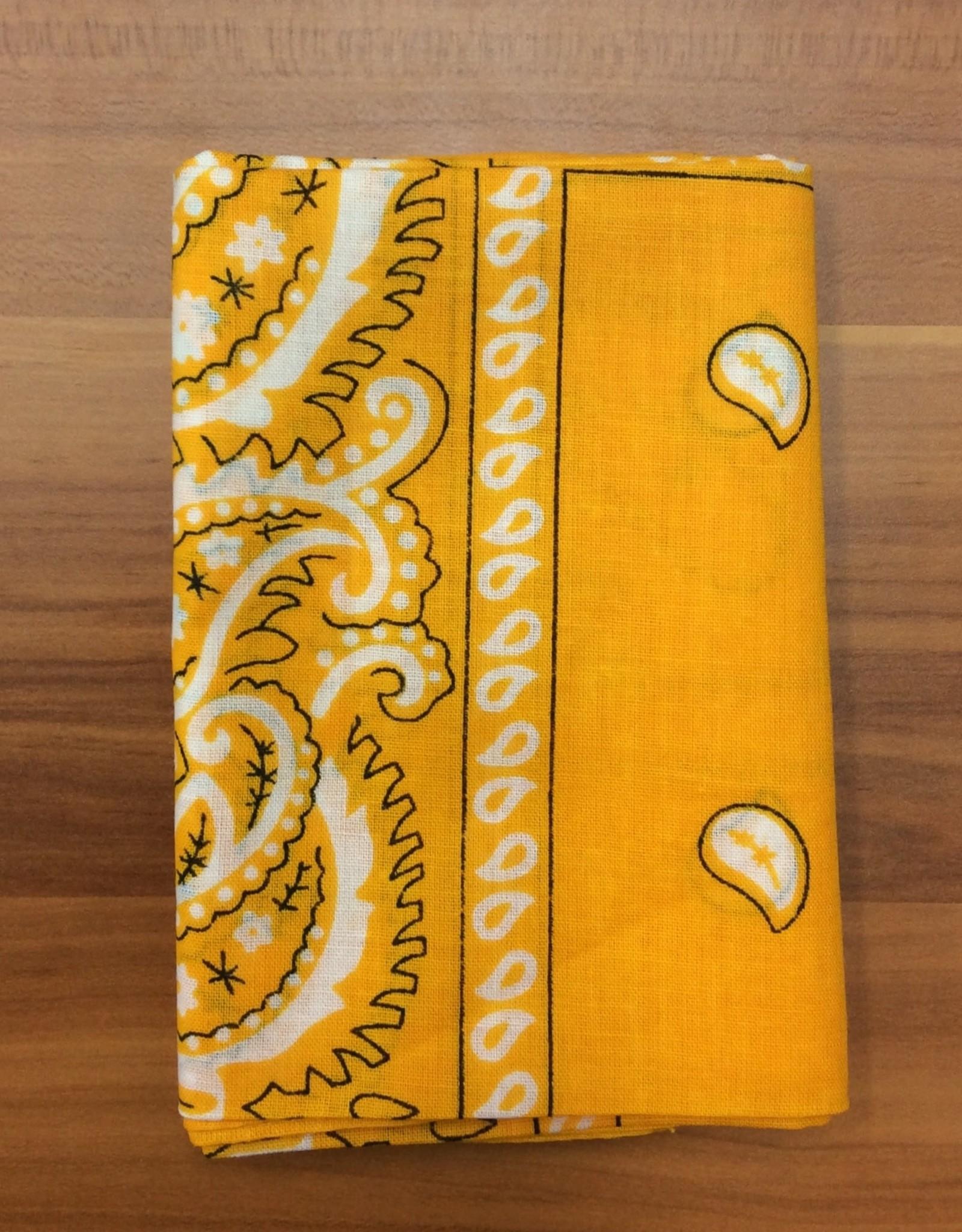 Bandana Paisley Patterned Golden Yellow
