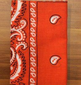 Bandana Paisley Patterned Orange