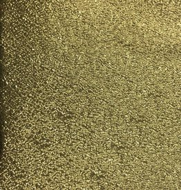 Pattern Cracked Ice Leatherette with Fleece Backing Gold