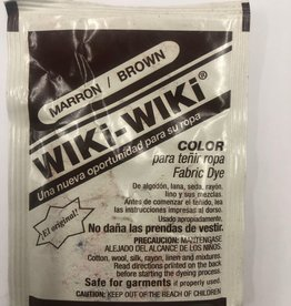 Wiki-Wiki Fabric Dye Brown (Marron)