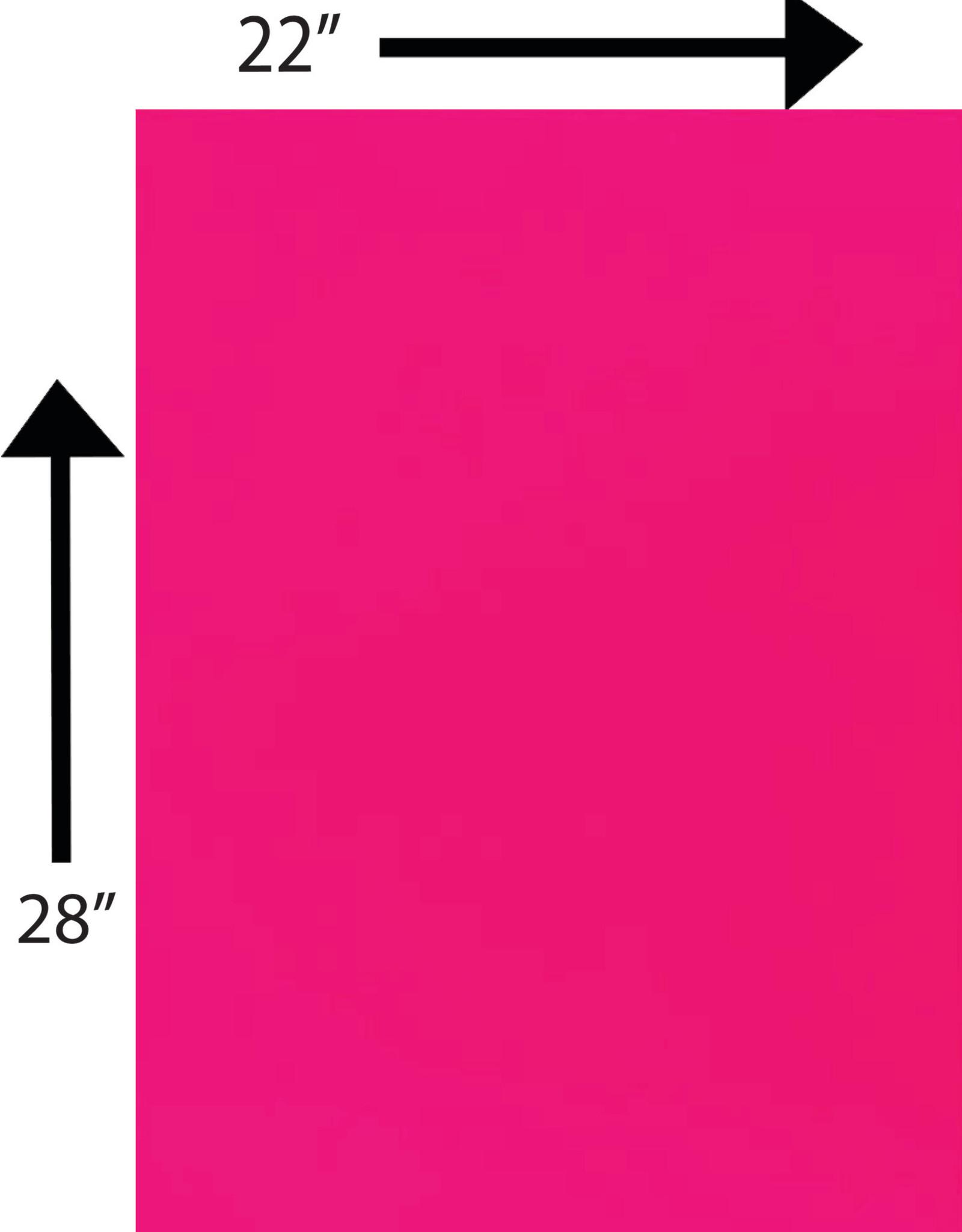 Bristol Board 185GSM 22 x 28 Inches Fluorescent Pink