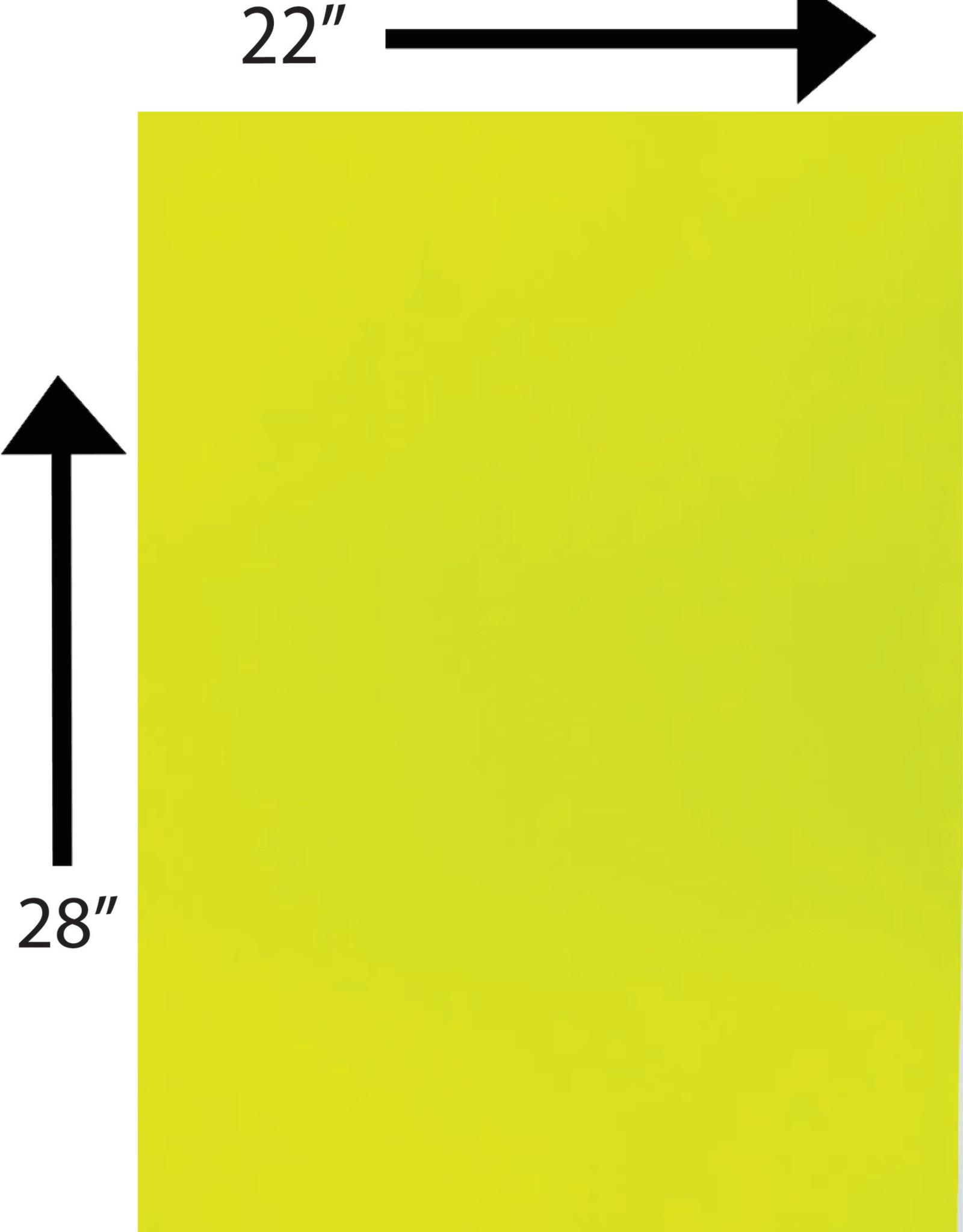 Bristol Board 185GSM 22 x 28 Inches Fluorescent Yellow