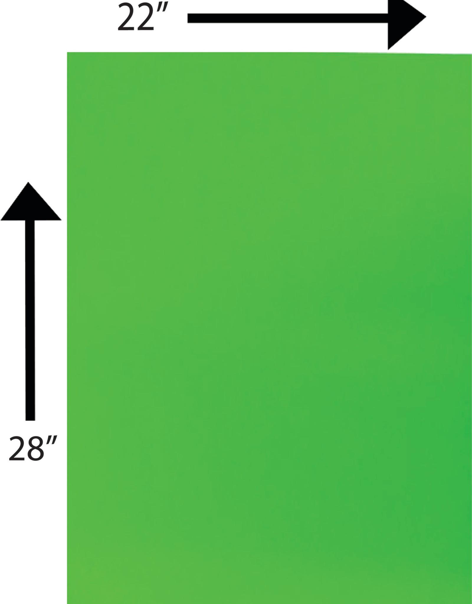 Bristol Board 185GSM 22 x 28 Inches Fluorescent Green