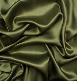 Satin Polyester 58 - 60 Inches  Dark Olive