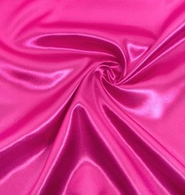 Satin Polyester 58 - 60 Inches  Hot Pink