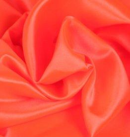 Satin Polyester 58 - 60 Inches  Fluorescent Orange