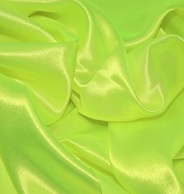 Satin Polyester 58 - 60 Inches  Fluorescent Yellow