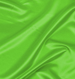 Satin Polyester 58 - 60 Inches  Fluorescent Green