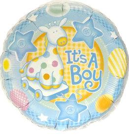"18"" 2 Sided Printed Mylar Balloon It's A Boy 2"