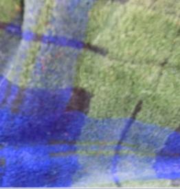 Plush - Short Hair Fabric 58 Inches Blue/Green Plaid