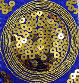 Sequin Brocade Lame Circle 43-45 Inches Royal Blue