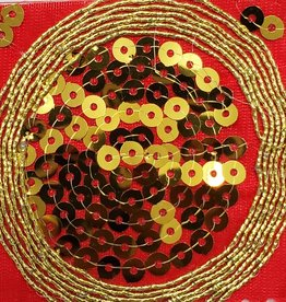 Sequin Brocade Lame Circle 43-45 Inches Red