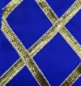 Criss Cross Lame 42 Inches Blue