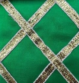 Criss Cross Lame 42 Inches Green