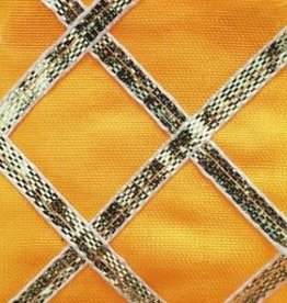 Criss Cross Lame 42 Inches Yellow