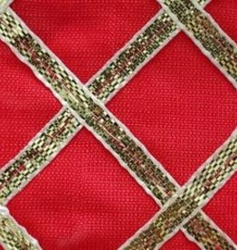 Criss Cross Lame 42 Inches Red
