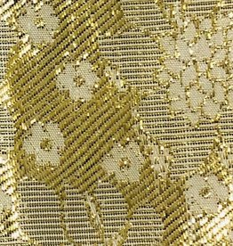 Printed Flower Lame 44 - 45 Inches - Gold