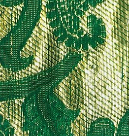 Paisley Gold Printed Lame 44 - 45 Inches - Emerald