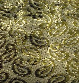 Paisley Patterned Brocade Lame - Gold