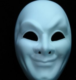 Venetian Undecorated Full Face Blank Mask White