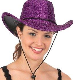 Glitter Cowboy Hat Purple