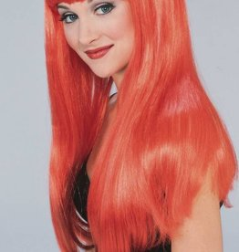 Long Glamour Wig Red