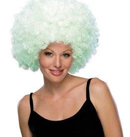 Glow Afro Wig White