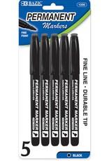 Black Fine Tip Permanent Markers W Pocket Clip