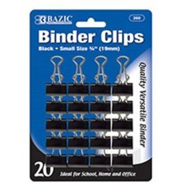 "Small 3/4"" (19Mm) Black Binder Clip"