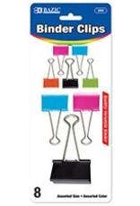Assorted Size Color Binder Clip (8/Pack)