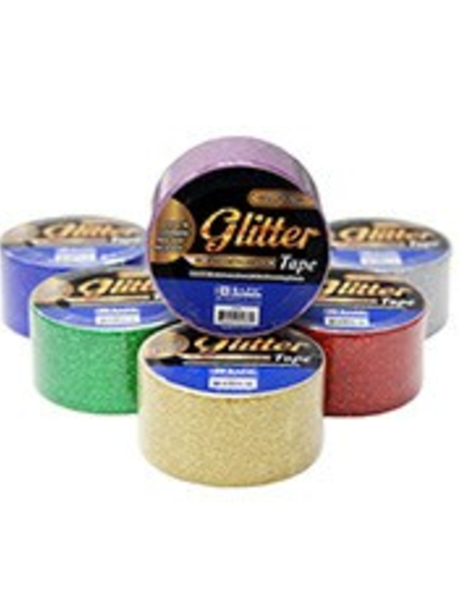 """1.88"""" X 3 Yards Glitter Tape Assorted Colours"""