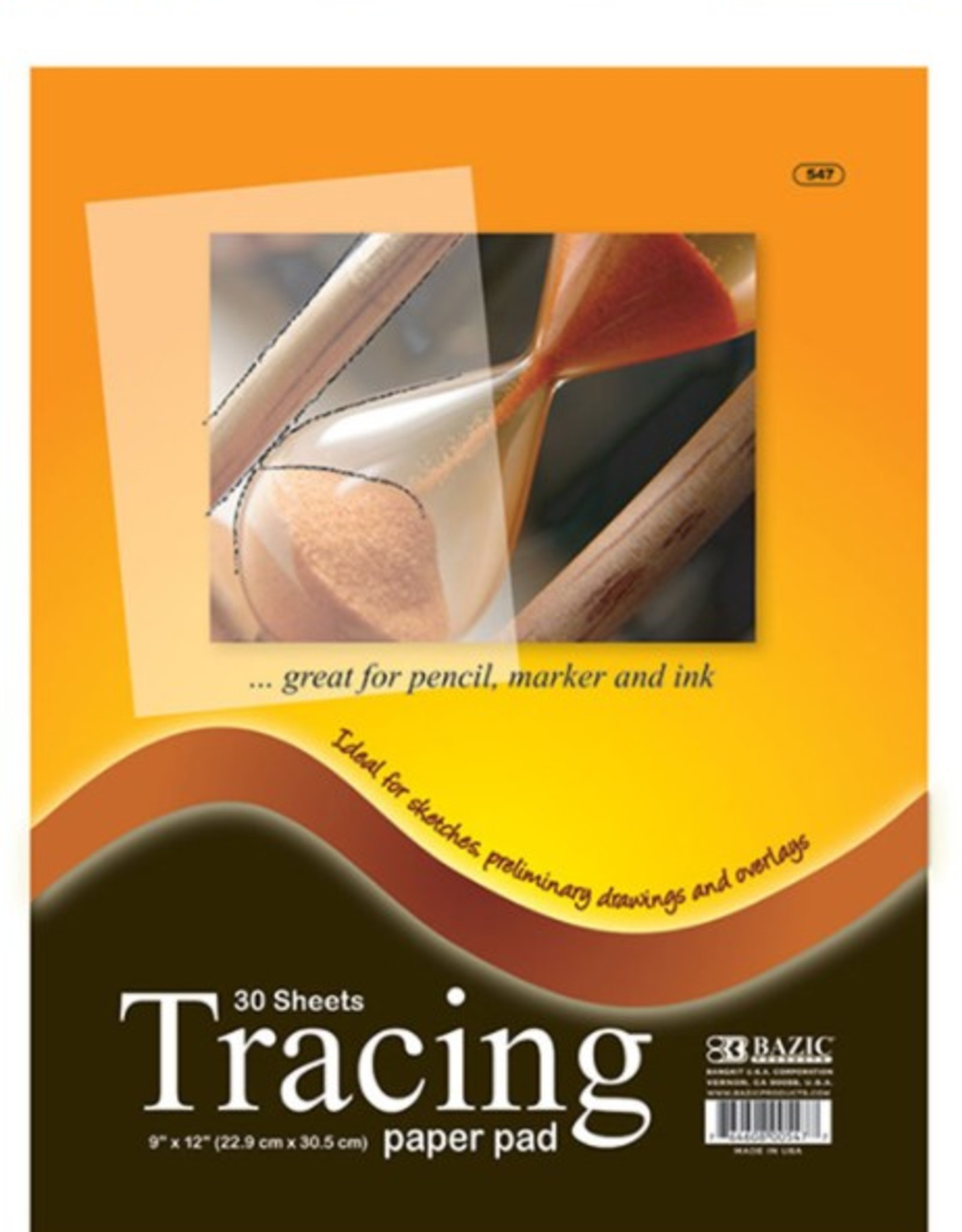 9 inches X 12 inches Tracing Paper Pad - 30 sheets