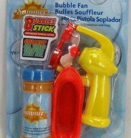 2oz Bubble Fan With Bubbles & Tray Multi-Coloured