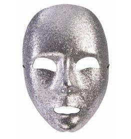 Mask - Silver Glitter Face