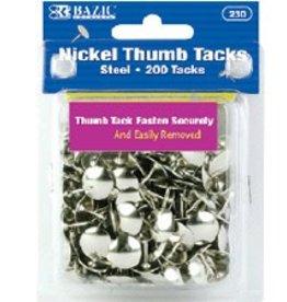Nickel (Silver) Thumb Tack (200/Pack)