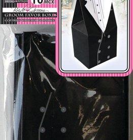 Wedding Groom Favor Boxes Black (10 Pieces)